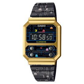 (8月21日発売予定)カシオ CASIO 腕時計 A100WEPC-1BJR スタンダード STANDARD メンズ レディース F-100 復刻 パックマンコラボ 限定モデル クオーツ ステンレスバンド デジタル(国内正規品)(8月新商品)(快適家電デジタルライフ)