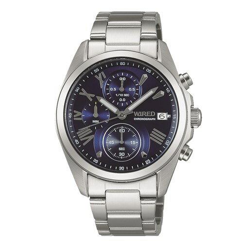 【国内正規品】【腕時計】 AGAT405 WIRED[ワイアード] ペアウォッチ スタイル 【クロノグラフ】【メンズ】【代引き手数料・送料無料】【快適家電デジタルライフ】