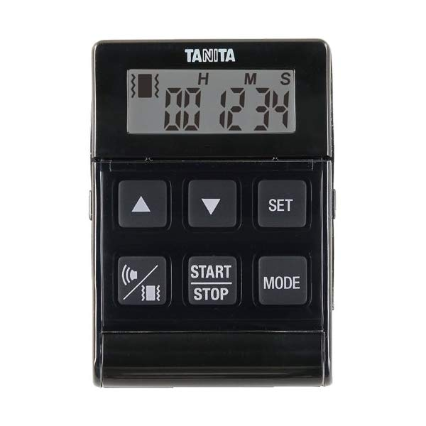 取り寄せ:納期1週間程度(メール便可:2点まで)TANITA[タニタ] デジタルタイマー バイブレーションタイマー24時間計 クイック TD-370N (ブラック) [TD370NBK](快適家電デジタルライフ)