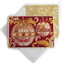 [Punch Studio]クリスマスカード★レッドオーナメント★封筒付き パンチスタジオ立体メッセージカード