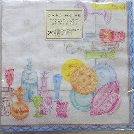 ペーパーナプキン[メール便OK] カラフル食器 2枚入り[ZARA]ザラ紙ナプキン・デコパージュ