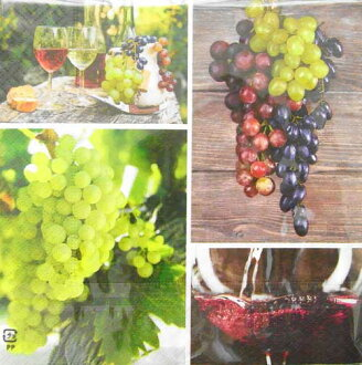Entering three pieces of c-264 paper napkin lunch size wine grape Muscat  [COLOURFUL LIFE] colorful life, paper napkin decoupage