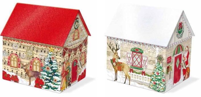 [Punch Studio]ハウスオルゴールボックスパンチスタジオクリスマス・トナカイ・雪だるま