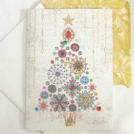 [Punch Studio]クリスマスカード ブローチ ツリーパンチスタジオ クリスマス
