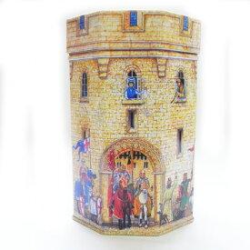 キャッスル タワー ティンBOX[ELITE]エリート・八角形・筒状・缶ケース・収納