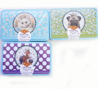 Gullet Pare biscuit, confectionery, pug rabbit rabbit cat cat with can made in three kinds of canned la トリニテーヌアニマルティン フランンス