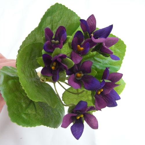 すみれのブーケ スミレ 造花 花束テーブルデコレーション・春・バイオレット