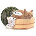 夏カード 桶に猫 [Sanrio]サンリオメッセージカード・立体カード・ サマーグリーティング・ 暑中見舞い
