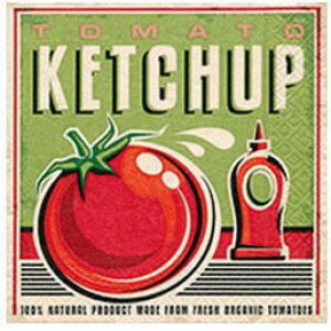 ペーパーナプキン[メール便OK]ランチサイズ トマトケチャプtomato ketchup 10枚入り[Paper+Design]ペーパーデザインとまと・トマト・赤・緑