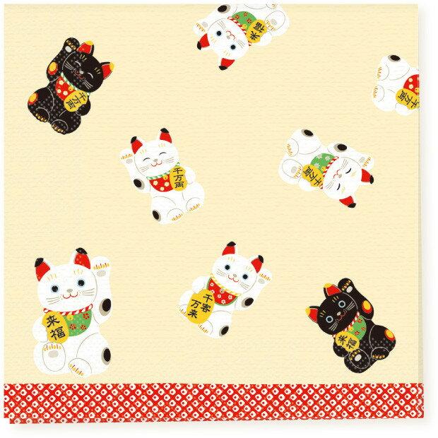 日本食品衛生法規格品ペーパーナプキン[メール便OK] 招き猫10枚入り[FRONTIA]フロンティア 和柄すし紙ナプキン