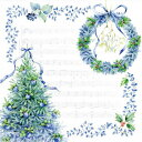 日本食品衛生法規格品ペーパーナプキン[メール便OK] ブルークリスマス 10枚入り[FRO...