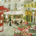 ペーパーナプキン10枚入り パリの街並みRUES DE PARIS[Nuova]ペーパーナフキン・紙ナ...