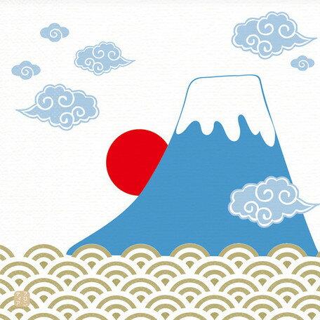 日本食品衛生法規格品ペーパーナプキン[メール便OK] 4小間 富士山10枚入り[FRONTIA]フロンティア 和柄紙ナプキン