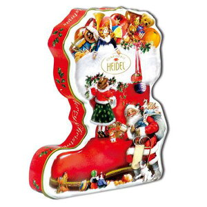 限定ノスタルジック ブーツ缶チョコ [チョコレート][HEIDEL]ドイツギフト・お菓子・クリスマス