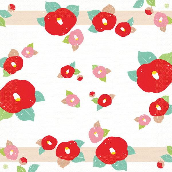 日本食品衛生法規格品ペーパーナプキン[メール便OK] 椿10枚入り[FRONTIA]フロンティア 和柄つばき・お祝い紙ナプキン