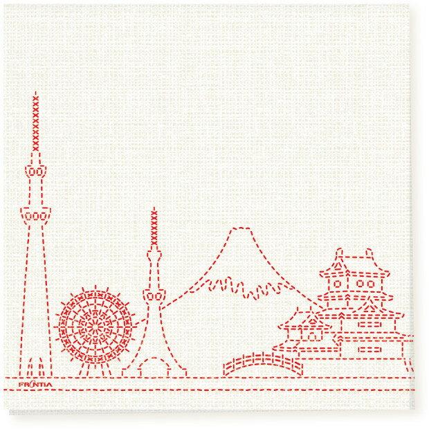 日本食品衛生法規格品ペーパーナプキン[メール便OK] 刺し子 日本の風景10枚入り[FRONTIA]フロンティア 和柄紙ナプキン
