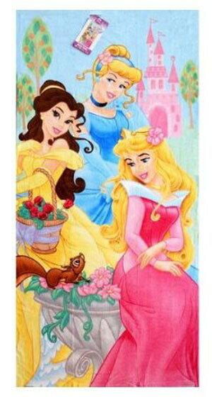 D.プリンセス ビーチタオル 花かご[Disney]ディズニー プリンセス