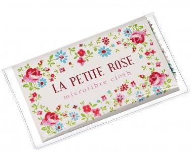 グラスクリーニンググロス メガネ拭き La Petite Rose [dotcomgiftshop] レトロ  おしゃれ雑貨 小花柄 ドットコムギフトショップ