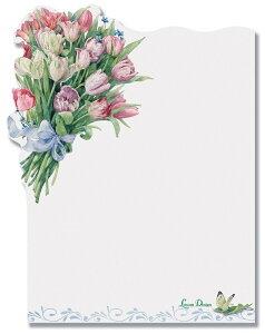 Lissom Design リゾムデザイン ダイカット付箋メモ フローラルアフェクションフラワー・花・チューリップ
