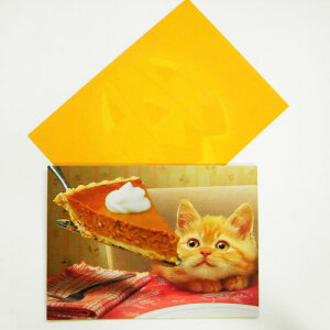 ハロウィーンカードL 猫とかぼちゃパイ[AVANTI]ネコ・猫・ねこメッセージ・ギフトカード・グリーティング