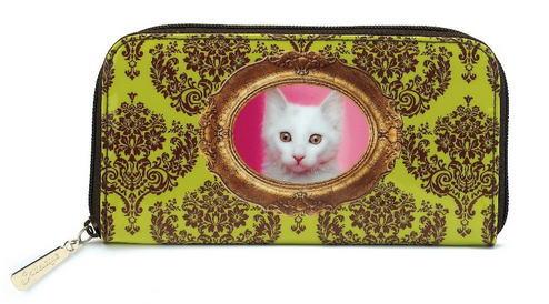 ジップウォレット バロック猫[Catseye]猫の長財布・猫雑貨・cat・キャット