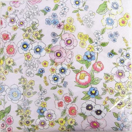 ペーパーナプキン[メール便OK] 10枚入りマイガーデン ピンク[Nuova]花柄ペーパーナフキン・紙ナプキン・デコパージュ