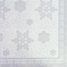 ペーパーナプキン  雪の結晶シルバー2枚入り 雪柄[ZARA]クリスマス紙ナプキン・デコパージュ