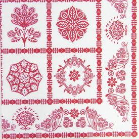 ペーパーナプキン  ノルディック赤白2枚入り 北欧雪柄[ZARA]クリスマス紙ナプキン・デコパージュ