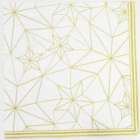 ペーパーナプキン  線星 ホワイトゴールド2枚入り[ZARA]クリスマス紙ナプキン・デコパージュ