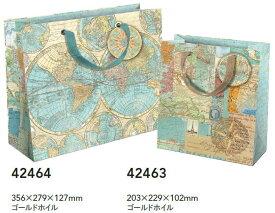 Punch StudioペーパーバッグM ワールドアトラスパンチスタジオ地図・地球儀紙袋・ラッピング・ギフト・