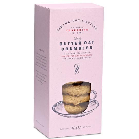 カートライトアンドバトラー バターオーツクランブルビスケット  ピンク箱入りショートブレッドバトラー缶に詰め替え可能[Cartwright&Butler]輸入お菓子・ビスケット