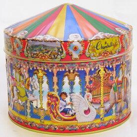 [輸入お菓子]缶入りファッジ&トフィー マジカルカルーセルチャーチルメリーゴーランド