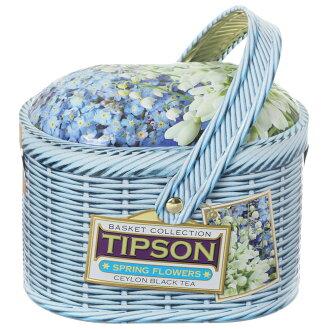 Tea basket spring Fleur Sack's tea leaves 100 g [BASILUR] バシラーサンタ with canned basket type