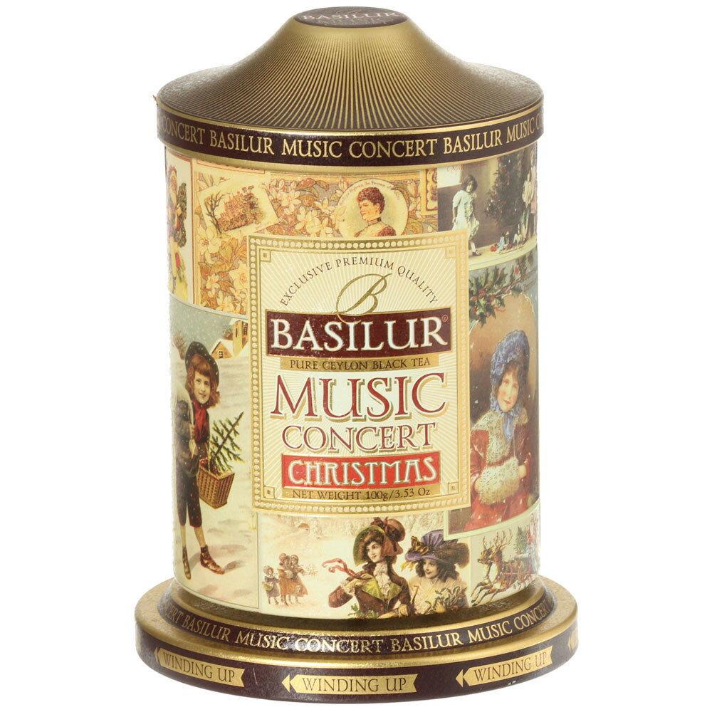 オールゴール缶入り紅茶 ミュージックコンサート クリスマス茶葉100g[BASILUR]バシラー