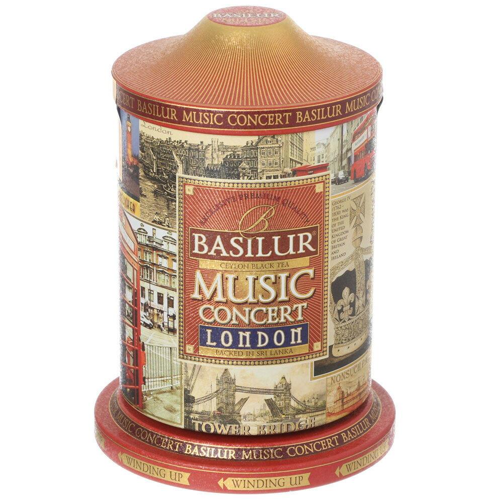 オールゴール缶入り紅茶 ミュージックコンサート ロンドン レッド茶葉100g[BASILUR]バシラー