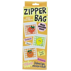 ジップバッグ  FRUITS ASST ジップロック ・ジップバッグ 15枚入り[その他]オクタニコーポレーション・小分け袋・保存袋・手作りお菓子