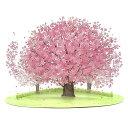 P4420 多目的 立体カード 桜の木 透明素材 桜の花 クリアカード[Sanrio]サンリオ・カード・グリーティングカード・…