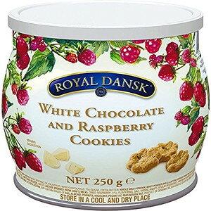 [輸入お菓子] ロイヤルダンスク ホワイトチョコ&ラズベリークッキー 250gロイヤルダンスク ROYAL DANSKビスケット クッキー 焼き菓子