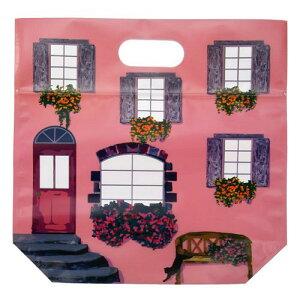 日本製 ジップ付きビニールバッグ おすそわけ袋 ハウス壁面柄 ピンクコジット ジップバッグ ジップロックお菓子保存 小分け 収納 おすそ分け ラッピング