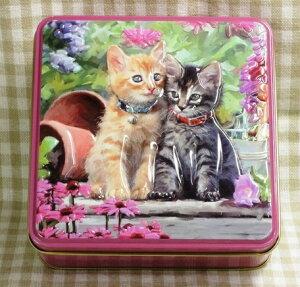 輸入菓子 缶入りビスケット100g アメリカンショートヘア缶(ショートブレッド)Grandma Wilds グランマワイルズ輸入ビスケット,輸入クッキー 子猫 猫 キャット CAT