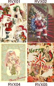 2019新作追加! ヴィクトリアン エンジェル  クリスマスポストカード Rakka 天使、ローズ、レース、アンティーク絵葉書 ハート・ローズ