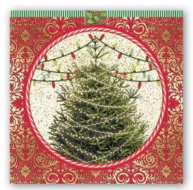 Michel Design Works ペーパーナプキン●カクテルサイズ 5枚●オークリスマスツリークリスマス 紙ナプキン・デコパージュミッシェルデザインワークス