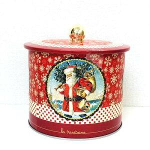 ラ・トリニテーヌ サンタクロース バレル缶 フランンス製・ビスケット缶入り菓子 輸入菓子 クリスマスお菓子 クリスマス限定缶