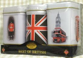 輸入食品 紅茶3缶セット ベストオブブリティッシュ(70g) 白缶3缶New English Teaニューイングリッシュティ ユニオンジャック缶