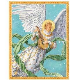 クリスマスカード 楽器天使Caspari カスパリ 定形サイズグリーティングカード エンジェル
