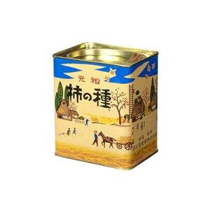 缶入り菓子  元祖 柿の種 進物 縦缶元祖浪花屋の柿の種  大袋詰め化粧缶レトロ缶