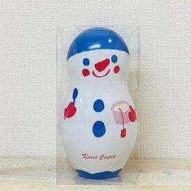 冬季限定 缶入り紅茶  スノーバニラティー スノーマン缶カレルチャペック マトリョーシカ缶Lサイズティーバッグ16g(2g×8P)