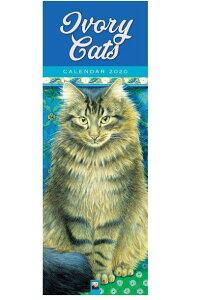SALE  2020年 アイボリーキャッツ スリムカレンダー[IvoryCats]ネコ・猫・ねこ・カレンダー・Lesley Anne Ivoly 輸入カレンダー