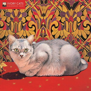 SALE  2020年アイボリーキャッツ スモールカレンダー[IvoryCats]ネコ・猫・ねこ・カレンダー・Lesley Anne Ivory 輸入カレンダー