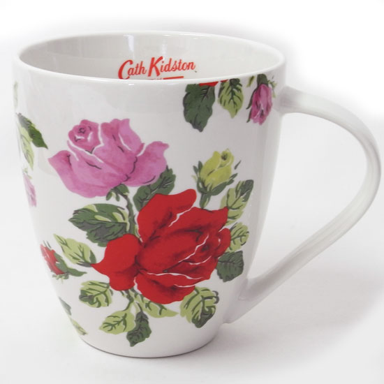 マグカップ クラッシュマグ ★ロイヤルローズ ホワイト[Cath Kidston]薔薇・バラ